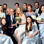 Jerry Hall posts professional photo of Rupert Murdoch and their children on wedding day
