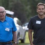 Rupert Murdoch, pictured here with son Lachlan, has seen daughter Elisabeth marry artist Keith