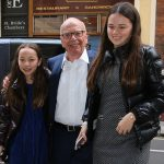Rupert Murdoch pictured with his daughters Grace, 14, and Chloe, 12