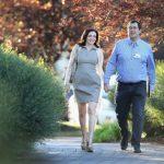 Sheryl Sandberg, chief operating officer of Facebook, and her husband David Goldberg