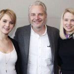 Jennifer Lawrence, director Frances Lawrence, and Yahoo CEO Marissa Mayer