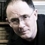 William Gibson at the Scylla bookstore in Paris, France.