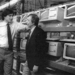 With Mike Markkula on the LISA assembly line