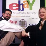 Chairman and founder Pierre Omidyar and CEO Meg Whitman of EBay.com